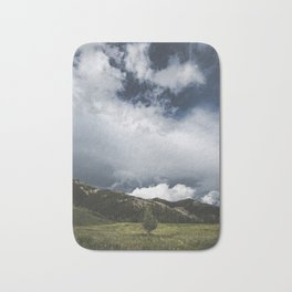Landsape Waterton Meadow and Rolling Hills | Nature | Skyscape Clouds Bath Mat