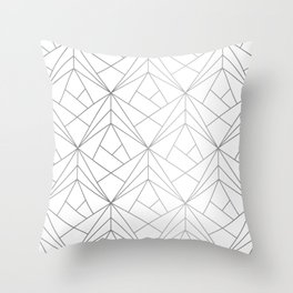 Geometric Silver Pattern Throw Pillow