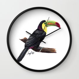 Keel Billed Toucan Wall Clock