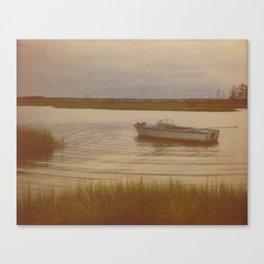 Boat in Marsh Canvas Print