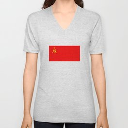 ussr cccp russia soviet union communist flag Unisex V-Neck
