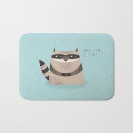 Sneaky Raccoon Bath Mat