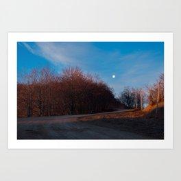 Mt. Sirino - Moon at dawn Art Print