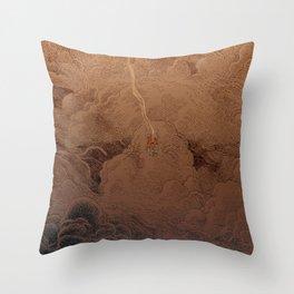 Chute dans Jupiter Throw Pillow