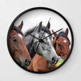 Wonderful Horses Wall Clock