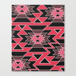Ethnic decor in pink and purple Canvas Print