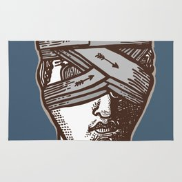 Wrapped Head Engraving Study Rug