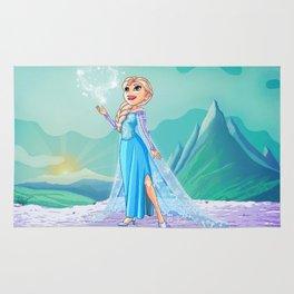 Elsa from Frozen Rug