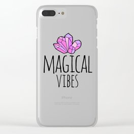 Magical Vibes Clear iPhone Case