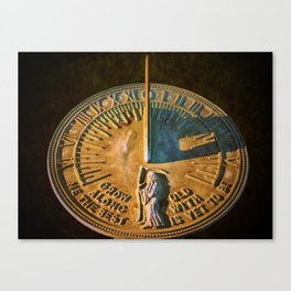 Old Father Time Sundial Canvas Print