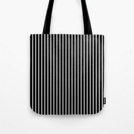 Classic White Pinstripe on White Tote Bag