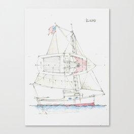 22 Ft Sloop Canvas Print