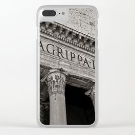 The Pantheon black and white Clear iPhone Case