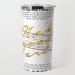 Make Good Art - Neil Gaiman Travel Mug