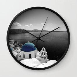 Santorini Blues Wall Clock
