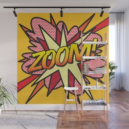 Comic Book ZOOM! Wall Mural