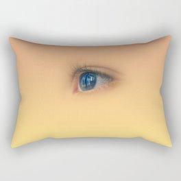 Blue eye staring Rectangular Pillow