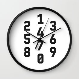Typography Numbers #2 Wall Clock