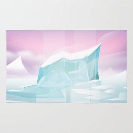Arctic frozen flight poster. Rug