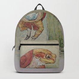 Jeremy Fisher by Beatrix Potter Backpack