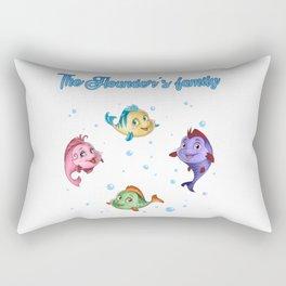 The Flounder's family - The little mermaid Rectangular Pillow