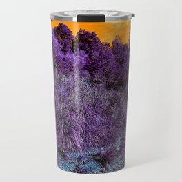 Not home planet alien landscape indigo purple orange surreallist Travel Mug