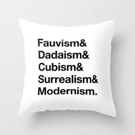 Fauvism & Dadaism & Surrealism & Modernism Throw Pillow
