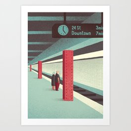 Day Trippers #3 - Waiting Art Print