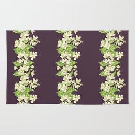 Jasmine seamless blooming branch Rug