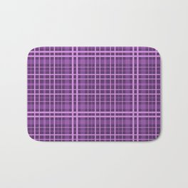 Plaid in black and purple colours . Bath Mat