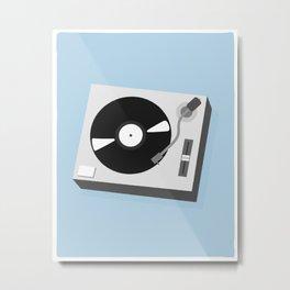 Turntable Illustration Metal Print