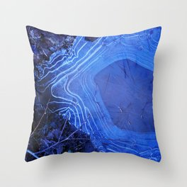 Topographic Puddles Throw Pillow