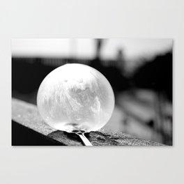 Black and White Frozen Bubble Canvas Print