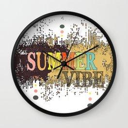 Summer Vibe 2 Wall Clock