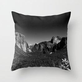 Yosemite Valley View Throw Pillow