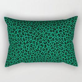 LEOPARD PRINT in GREEN / Collection : Leopard spots – Punk Rock Animal Print Rectangular Pillow