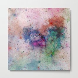 Star Gazer - Abstract, space, ink painting Metal Print