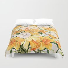 Wordsworth  and daffodils. Duvet Cover
