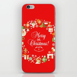 The Circle of Christmas Stuffs iPhone Skin