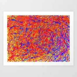 Abstract Jackson Pollock Painting Titled: Stimulates 5 Art Print