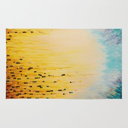 MYSTIC GARDEN Lovely Fairy Land Abstract Painting Acrylic Fine Art Winter Colorful Fantasy Magical Rug
