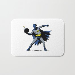 Bat Throwing Bomb Bath Mat