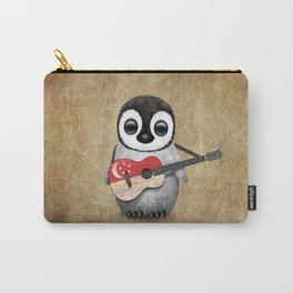 Baby Penguin Playing Singapore Flag Guitar Carry-All Pouch