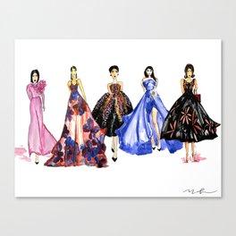 Designer Girls Canvas Print