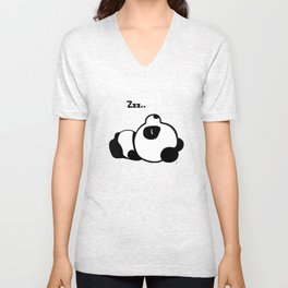 Sleeping Baby Panda Kawaii AWWW! Unisex V-Neck
