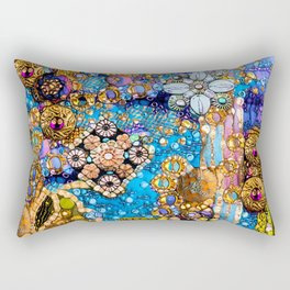 Gold, Glitter, Gems and Sparkles Rectangular Pillow