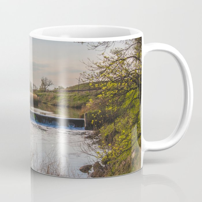 Dam on Painted Woods Creek, North Dakota 1 Coffee Mug