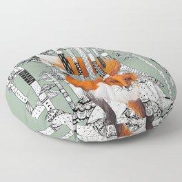 Fox Forest Floor Pillow