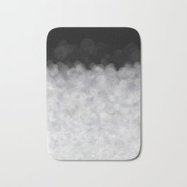 Snow Clouds in the Dark - Abstract Bath Mat