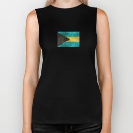 Vintage Aged and Scratched Bahamas Flag Biker Tank